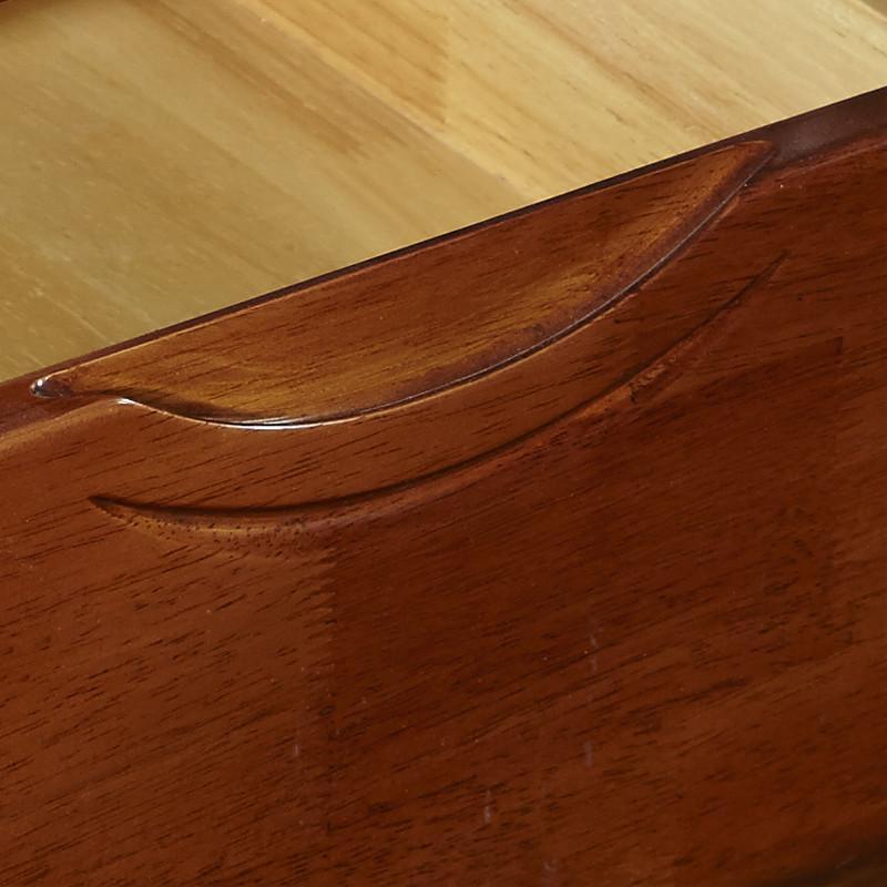 金丝橡木中式实木床头柜