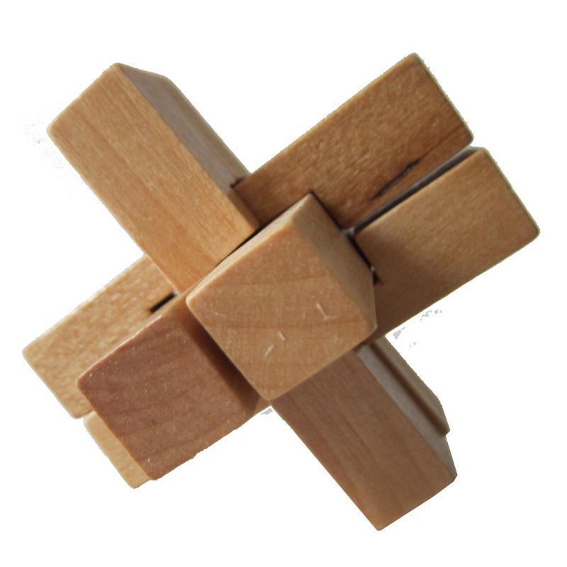 木有人 木质孔明锁鲁班锁 益智玩具 六通锁高清实拍图