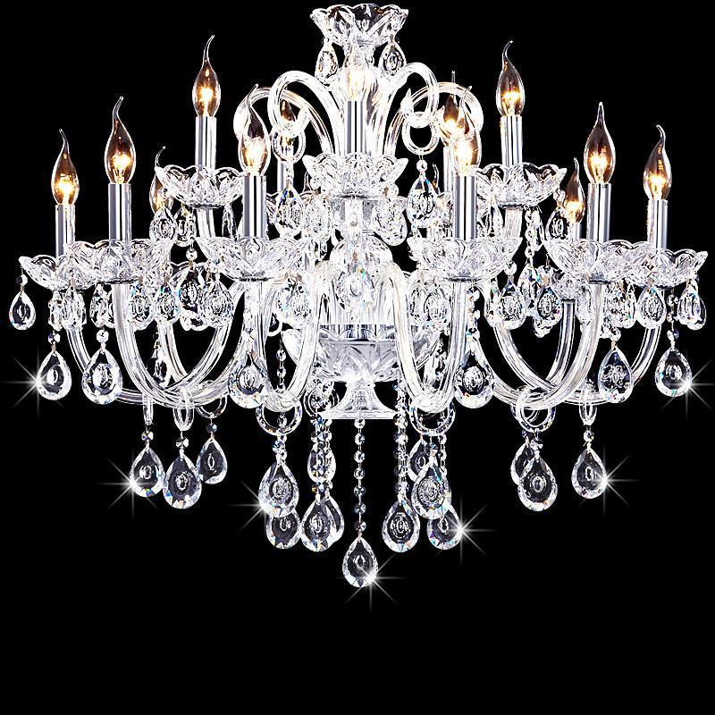 君御欧式客厅大吊灯复式楼别墅水晶吊灯蜡烛水晶灯具卧室餐厅灯饰9804