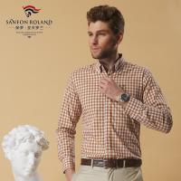 男士长袖衬衫纯棉格子修身潮新款情侣衬衫初春