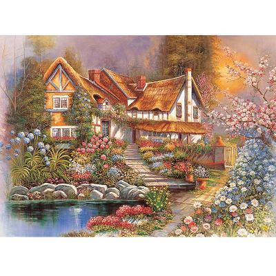 益智高档风景拼图4000片 风景油画 装饰画 梦乐园