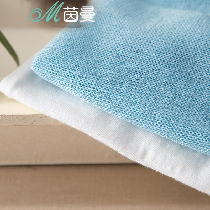 茵曼春装新款女士休闲时尚布条拼贴针织衫两件套8513010348 湖蓝色 l