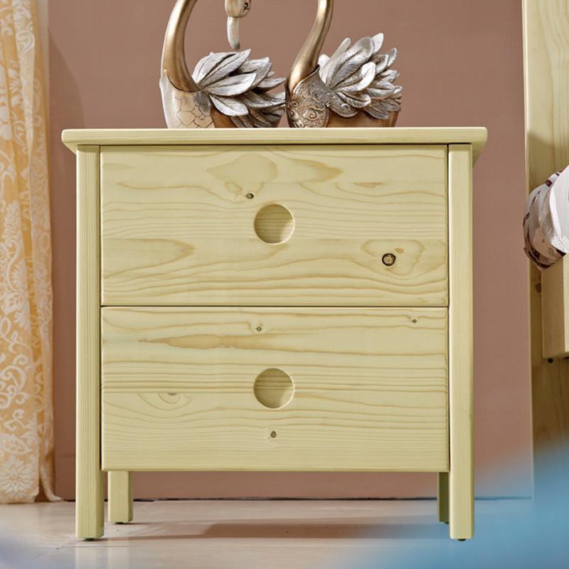 【歌万床头柜】歌万 实木床头柜松木床头柜原木色