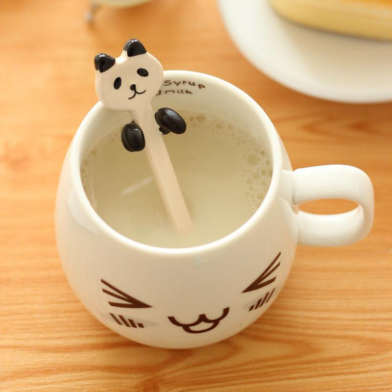绿盒子 创意可爱表情马克杯 卡通时尚个性情侣杯 咖啡杯牛奶陶瓷杯子