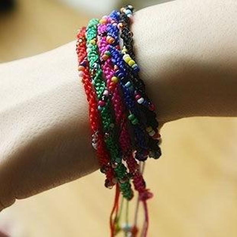 【迈姿(maizi)手镯/手链】迈姿波西米亚混搭 彩线编织