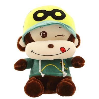 安吉宝贝馋嘴悠嘻猴嘻哈猴公仔毛绒玩具可爱大嘴猴子娃娃玩偶 绿色