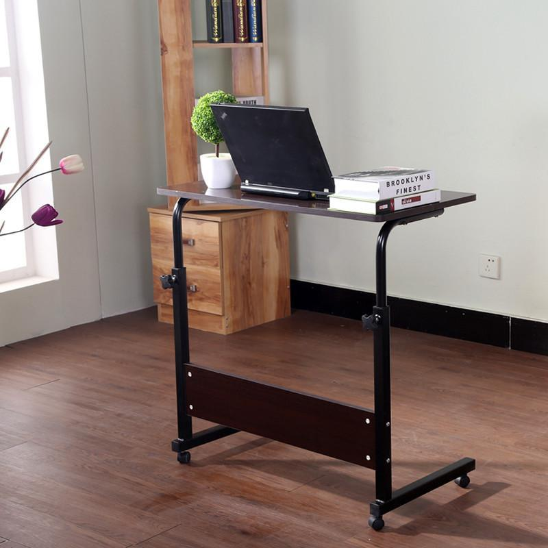 电脑桌床上用置地简约台式升降床边书桌移动小桌子