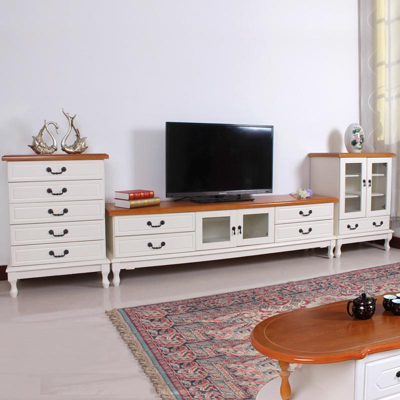 【韵奇电视柜】韵奇实木电视柜组合套装茶几斗柜酒柜
