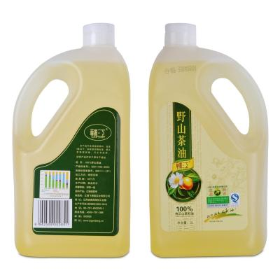 食用油物理压榨一级茶籽油2l塑料桶月子