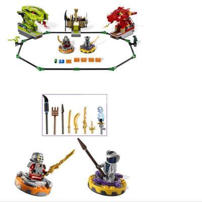 正品博乐儿童积木拼装玩具对战陀螺幻影忍者旋转机之战9758媲美乐高