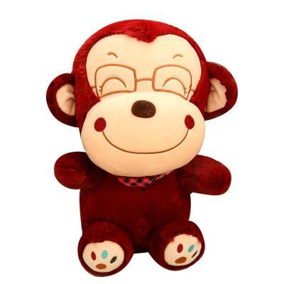 安吉宝贝可爱大嘴猴公仔毛绒玩具笑脸悠嘻猴玩偶抱枕 儿童节生日礼物