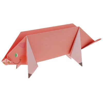 立体折纸动物园图