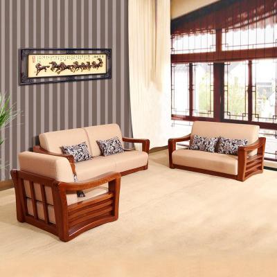 中式时尚客厅布艺实木沙发sf-2组合储物沙发