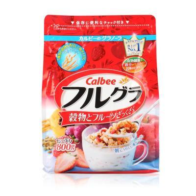 Calbee/卡乐比 水果颗粒果仁谷物麦片 营养早餐麦片