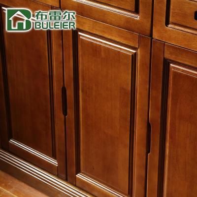 布雷尔 中式现代简约高档实木三门鞋柜 两门柜多功能储物柜带抽屉