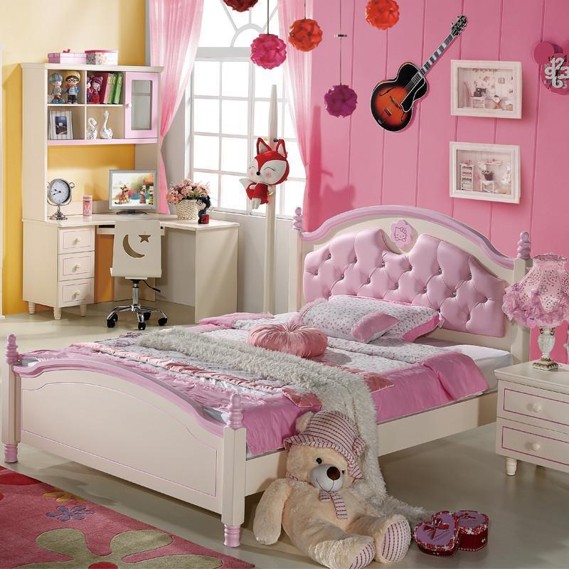 儿童床 女孩实木床儿童房家具
