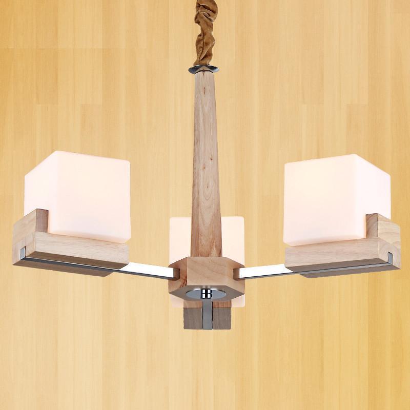 实木吊灯客厅吊灯中式吊灯原木客厅灯宜家卧室灯餐厅