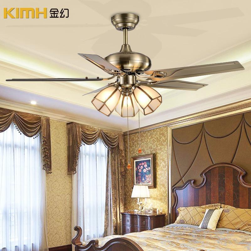 风扇灯现代简约餐厅卧室吊扇灯具欧式卧室装饰灯灯饰