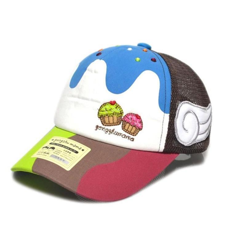 网眼帽可爱天使翅膀鸭舌帽儿童遮阳帽子棒球帽太阳帽