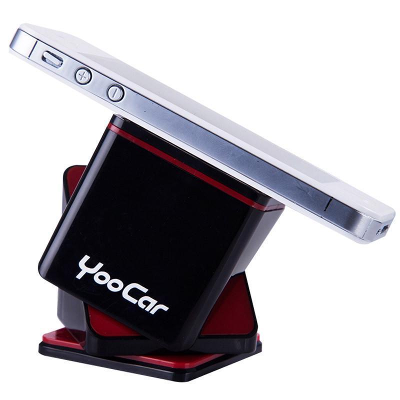 yoocar 车载手机支架汽车手机座多功能创意车家用苹果导航手机架-暗黑