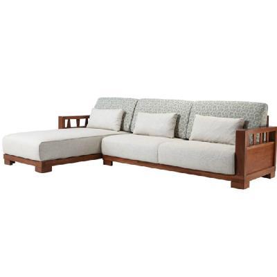 曲美特实木沙发图片