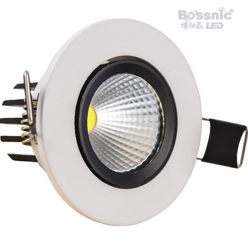 博仕尼射灯cob光源灯全套3w5w7w天花灯孔灯高亮节能灯具开孔65-85 cob