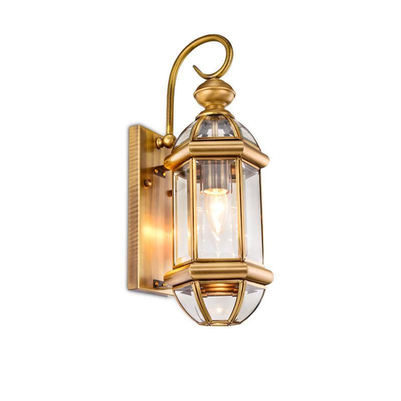 欧式背景墙壁铜灯户外壁灯