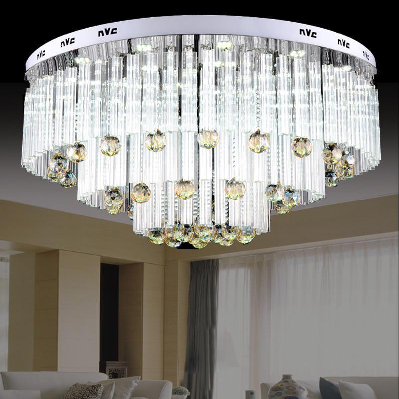 nvc雷士照明 现代设计水晶灯吸顶灯客厅灯 优雅水晶款