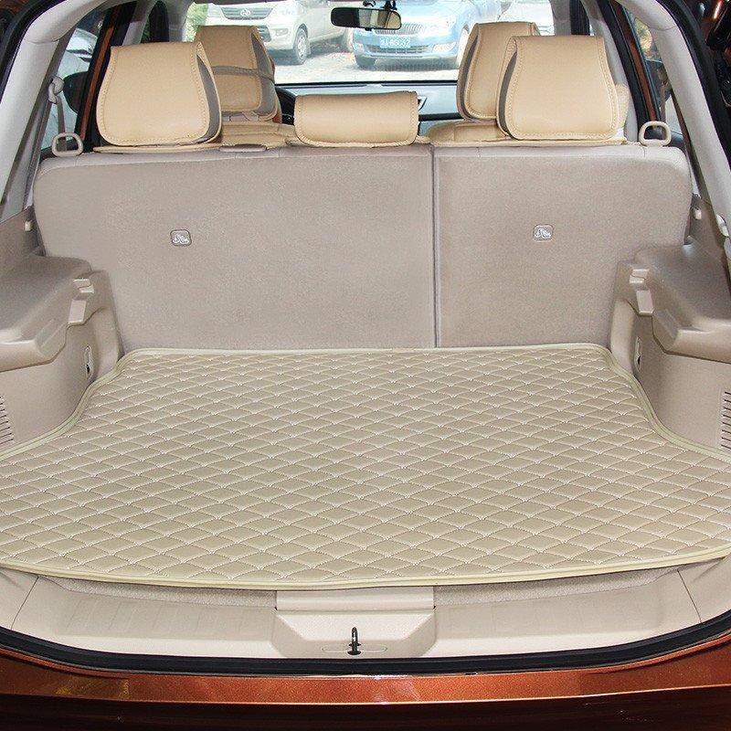 麦车饰 新款汽车后备箱垫子专用尾箱垫 棕色 奥迪a4l/a6l/q3q5q7宝马