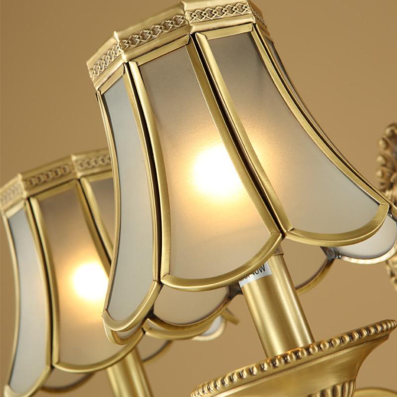 月影凯顿全铜欧式现代简约床头壁灯美式电视墙过道灯饰 双头-高35cm*