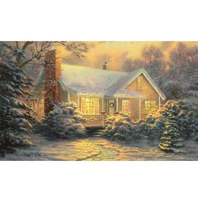 意特朗木质 500片拼图 成人益智拼图玩具 风景油画 装饰画 冬日里的