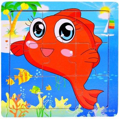 拼图卡通动物图片展示