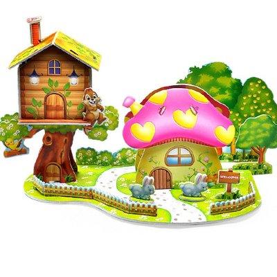 手工制作立体蘑菇房子
