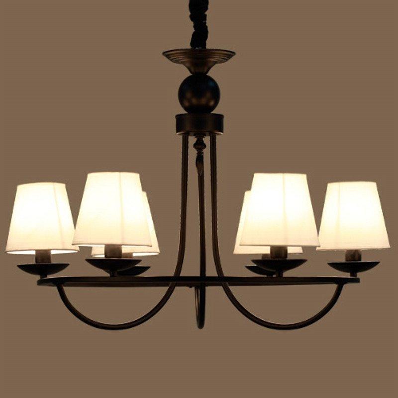 现代美式吊灯客厅灯具乡村复古欧式吊灯铁艺灯