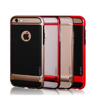 iphone6 plus手机壳 苹果6外壳5.5保护套 6plus手机套保护壳白底金边