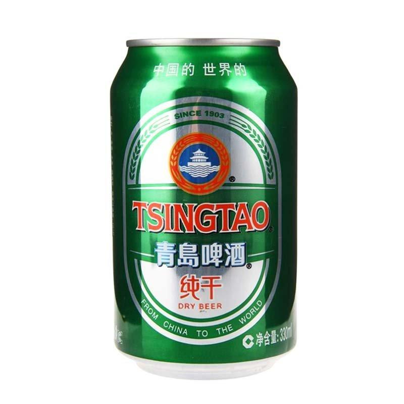 青岛啤酒10度330*24纯干罐啤