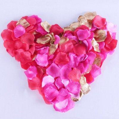 仿真玫瑰花瓣片喜床撒花场景结婚