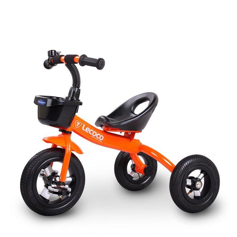 乐卡(lecoco)儿童三轮车脚踏车2015款新t301充气轮