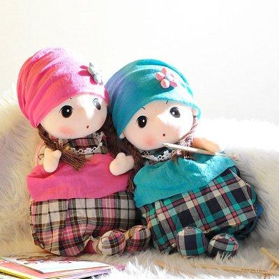幼儿园书包中小班女童儿童小学生书包可爱布娃娃女孩