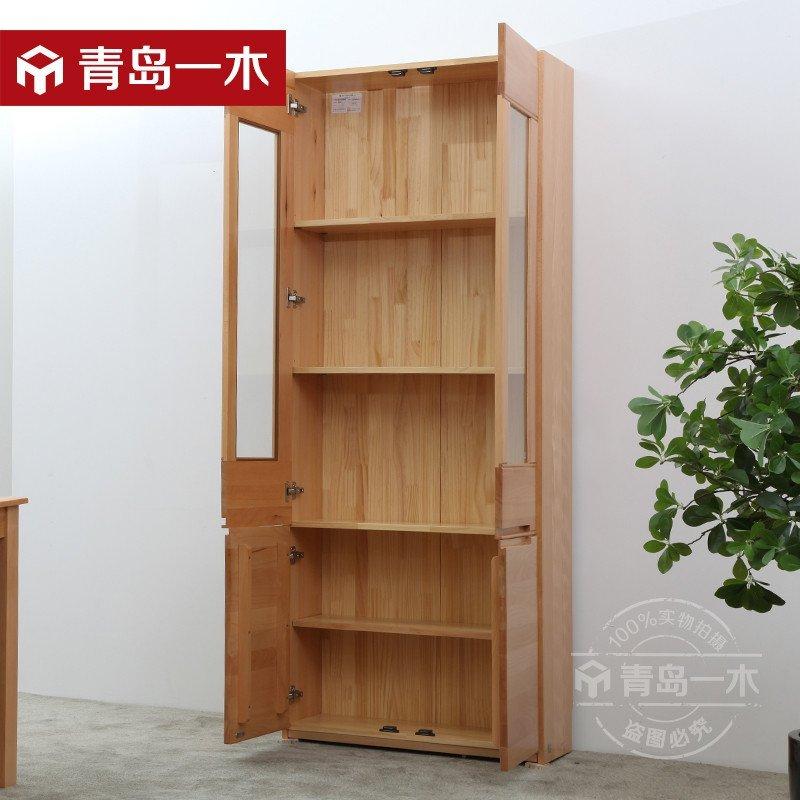 青岛一木家具时尚酒柜简约现代双门实木酒柜 高档储物柜多功能柜 qy01