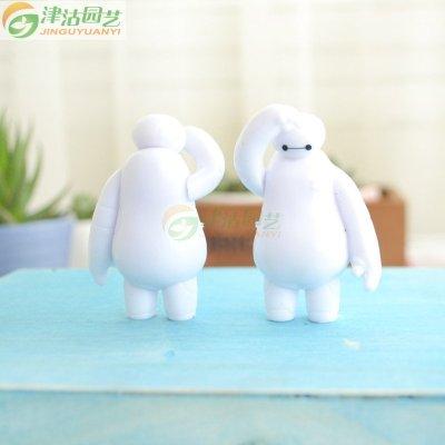 奇趣多肉植物摆件 大白玩偶 桌面小装饰摆设 微景观搭配小公仔玩具