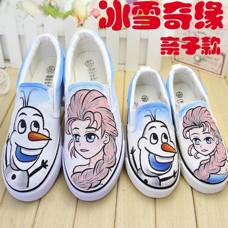 】冰雪奇缘儿童帆布鞋女童板鞋