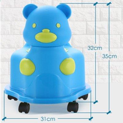 儿童如厕小便器 宝宝坐便凳 幼儿小便器 小孩小马桶尿盆便盆 有轮绿色