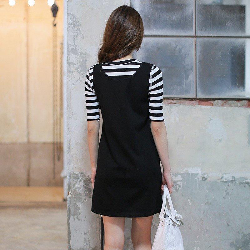 黑色背带裙全身搭配什么鞋
