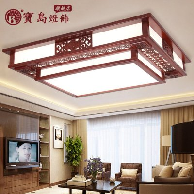 中式客厅主卧室灯具精湛实木吸顶灯