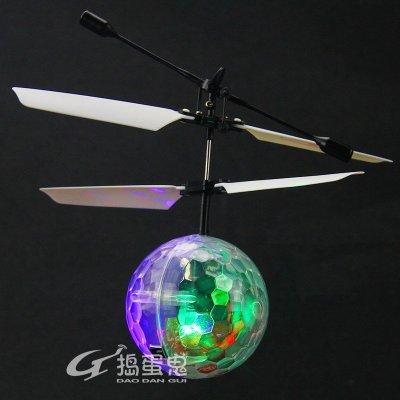 捣蛋鬼水晶球感应飞行器儿童玩具耐摔遥控飞机直升机