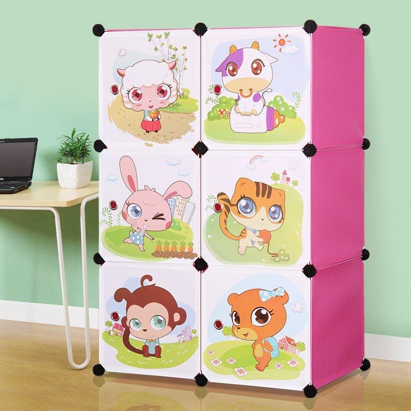 卡通衣柜简易儿童宝宝婴儿收纳柜组合塑料