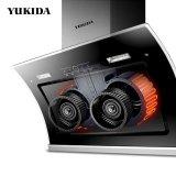 YUKIDA(9019A)雙電機自動清洗側吸式抽油煙機高效靜吸智能觸控熱自動洗油煙機大吸力油煙機