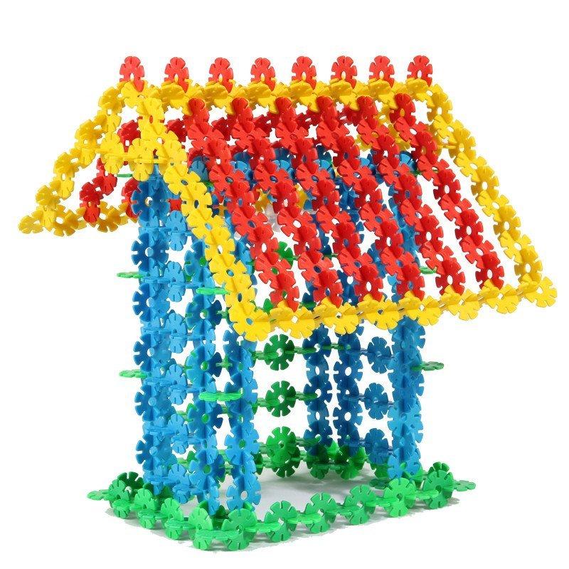 丸子宝贝儿童玩具雪花片塑料积木拼插拼装