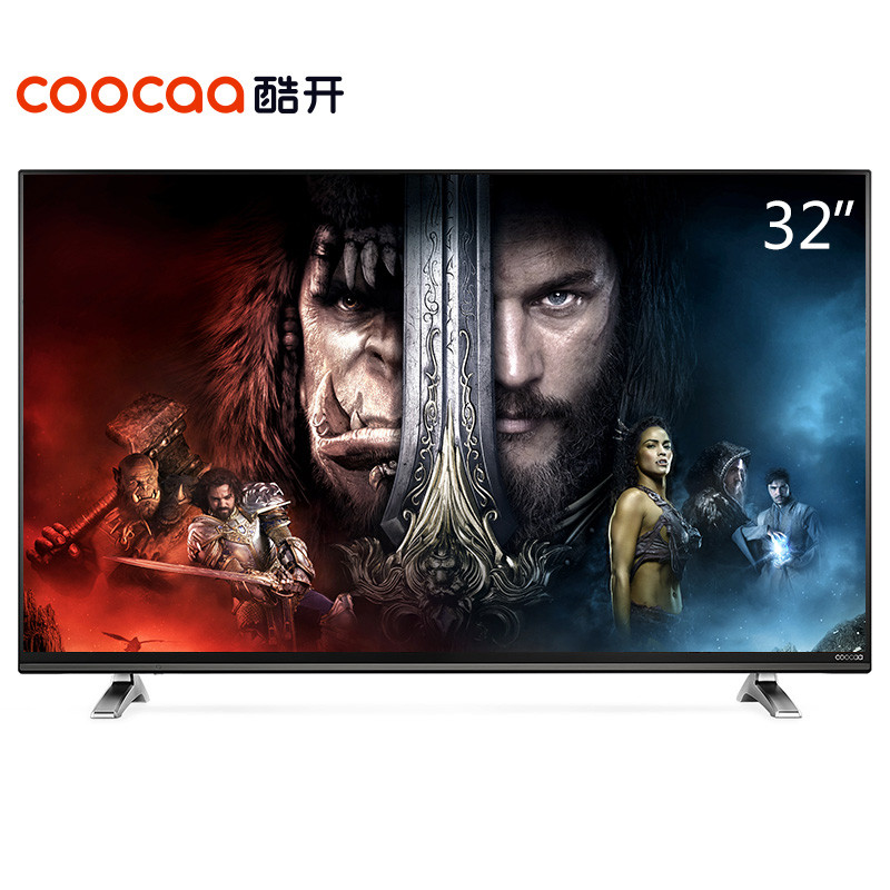 酷开(coocaa) K32 32英寸小企鹅网络液晶平板电视 酷开系统WIFI(黑色)